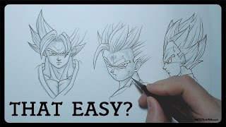 How To Draw Dragonball Characters   EASY Tutorial