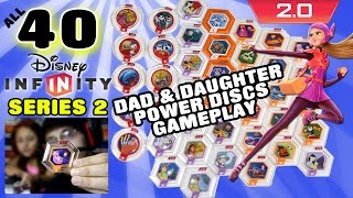 getlinkyoutube.com-All 40 Series 2 Disney Infinity 2.0 Power Discs Gameplay (Dad & Daughter Commentary w/ Face Cam)