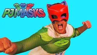 getlinkyoutube.com-PJ Masks - Gee-Cat-Owl Boy !  || Toy Reviews || Konas2002