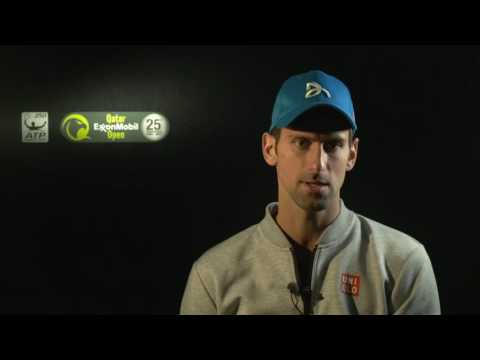 Djokovic DIscusses Stepanek QF In Doha