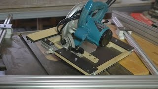 getlinkyoutube.com-DIY Track Saw & parallel guides สร้างชุดเลื่อยรางและอุปกรณ์ช่วยตัดขนาน