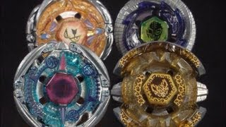 getlinkyoutube.com-Quadruple Beyblade Battle (The Highest Beyblade - Byxis VS Lynx VS Uranus VS Sagittario) HD! EPIC