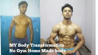 MY 5 MONTH NATURAL BODY TRANSFORMATION/NO GYM JUST HOME MADE BODY