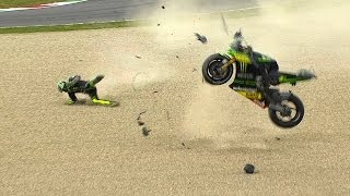 getlinkyoutube.com-MotoGP™ Mugello 2014 -- Biggest crashes