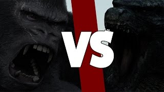 getlinkyoutube.com-GODZILLA (2014) VS KING KONG (2005)