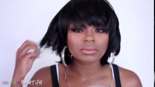 getlinkyoutube.com-Beshe 100% Human Hair Wig Ebony Elevate Styles Youtube Channel