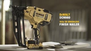 getlinkyoutube.com-DCN660 XR Lithium Ion Brushless 2nd Fix Nailer From DEWALT