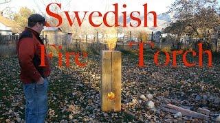 getlinkyoutube.com-Huge Swedish Fire Torch / Rocket Stove