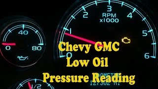 Chevy GMC No Oil Pressure Gauge Reading