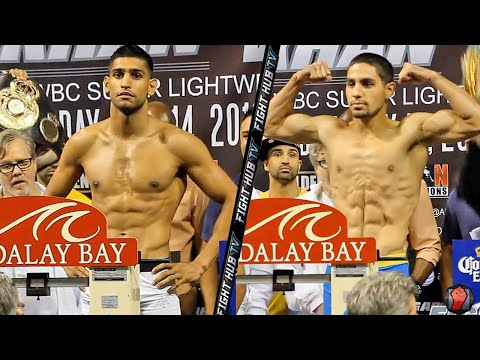 Amir Khan vs Danny Garcia full weigh In (HD)