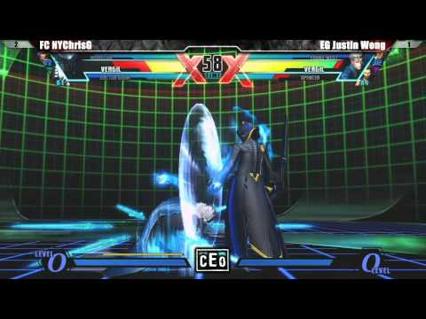 UMVC3 Grand Final EG Justin Wong vs FC NYChrisG - CEO 2012 Tournament