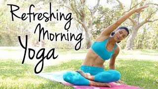 getlinkyoutube.com-Morning Yoga For Energy Boost & Flexibility, Tension & Pain Relief 20 Minutes Beginner Workout