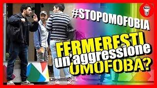 getlinkyoutube.com-Fermeresti un'aggressione Omofoba? - [Esperimento Sociale] - theShow #StopOmofobia