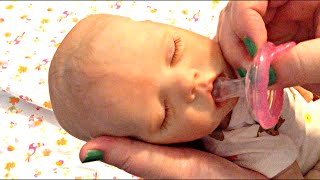 getlinkyoutube.com-Twin A Reborn Baby Doll Bonnie Brown Doll Kit Pacifiers