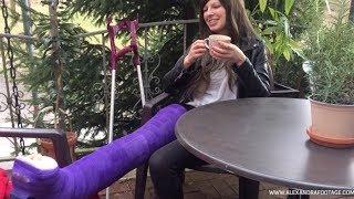 (M)ein Tag mit LLWC | ALEXANDRA FOOTAGE (Gipsbein, Full leg cast)