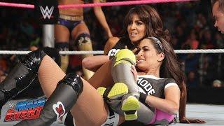 getlinkyoutube.com-Brie Bella vs. Summer Rae & Layla - 2-on-1 Handicap : WWE Main Event, Sept. 30, 2014