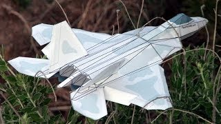 getlinkyoutube.com-How to make an F-22 Paper Airplane 3D model