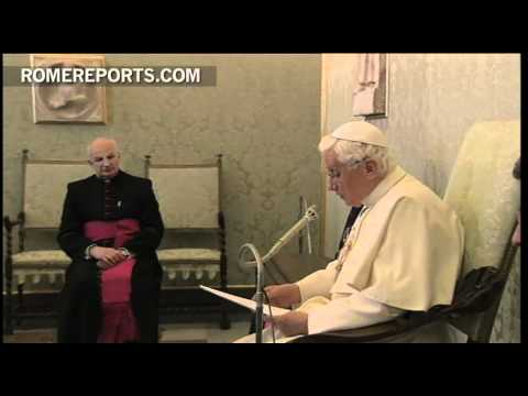 Benedict XVI meets with members of the Circle of St  Peter