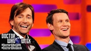 getlinkyoutube.com-MATT SMITH & DAVID TENNANT Answer Whovian Fans' Questions - THE GRAHAM NORTON SHOW on BBC America