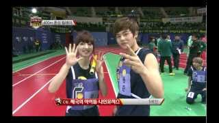 getlinkyoutube.com-Kpop Star Championships - 400M Coed teams Relay, 아육대 - 400M 혼성 릴레이 20130211