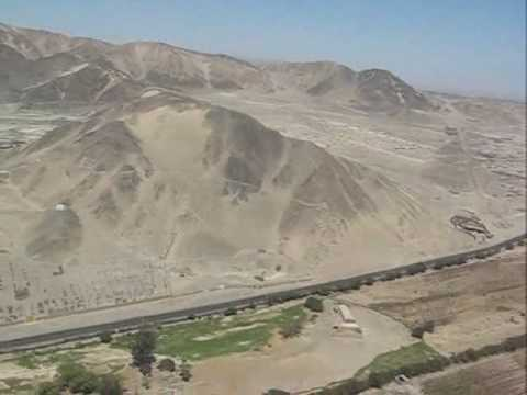 Flying above the Nazca lines in Peru aboard a small Cessna plane