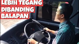 getlinkyoutube.com-Fitra Eri Learn to drive and maneuvre a big bus. Mercedes-Benz OH 1836 30-seater.