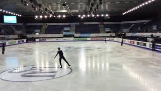 getlinkyoutube.com-Yuzuru Hanyu Grand Prix Final Barcelona Practice  Dec. 11. 2014