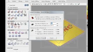 getlinkyoutube.com-Text tool path with ArtCAM pro, artcam tutorial