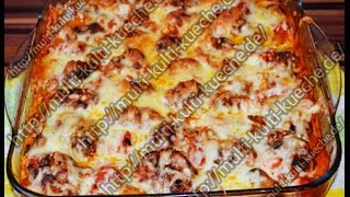 getlinkyoutube.com-Rezept / Rezepte: Frikadellen auf Tomaten Pilzsauce