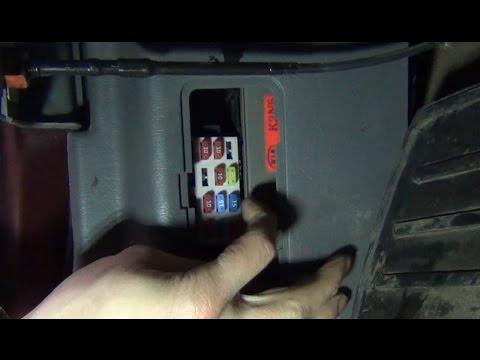 Замена предохранителя электроподогрева сидений KIA - Spectra