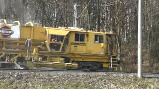getlinkyoutube.com-Sanierung Bahnstrecke mit Plasser & Theurer Bettungsreinigungsmaschinen März 2015 Teil 6/6