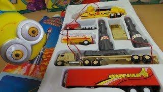 getlinkyoutube.com-Rocket Control Center Vintage Semi Trailer Truck Toy Set