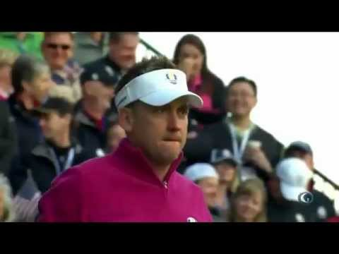 Ian Poulter and Bubba Watson teeing off at Ryder Cup 2012