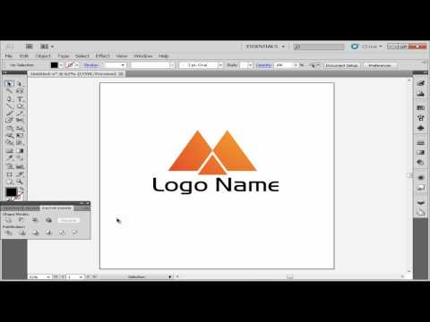 simple logo using illustrator cs5 tutorial