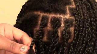getlinkyoutube.com-Two Strand Twist Braid Using 100% Kanekalon Hair