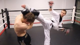 getlinkyoutube.com-Taekwondo vs Muay Thai 2014 | Martial Arts Fight Scene (Real Contact Hits)