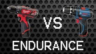 getlinkyoutube.com-Milwaukee M12 BDD vs Bosch GSB 10,8-2-LI [12/10,8V Endurance Part 2]
