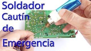 Soldador Cautín de Emergencia / How to make a mini soldering iron