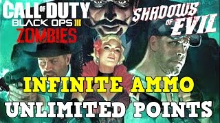 INFINITE POINTS and UNLIMITED AMMO Glitch / Secret Shadows of Evil (BO3 Zombies)