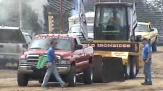 getlinkyoutube.com-DODGE CUMMINS DESTROYS FRAME @ DIESEL TRUCK PULL