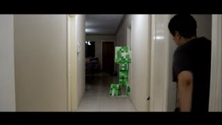 getlinkyoutube.com-Minecraft Creeper Attack In Real Life (SHORT FILM)
