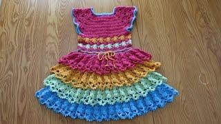 Vestido 4 Olanes 4 Colores 7 a 8 Años parte 1de 2