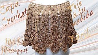 getlinkyoutube.com-Capa ó Falda Crochet paso a paso