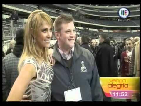 Ines Sainz En El Media Day Del Super Bowl XLV