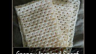 getlinkyoutube.com-Crochet Granny Square Inspired Scarf - Beginner Level