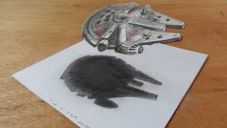getlinkyoutube.com-This amazing 3D drawing of the Millennium Falcon...