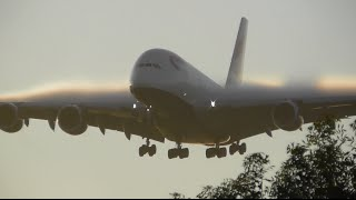 getlinkyoutube.com-Crack of Dawn *HEAVY* Arrivals at London Heathrow Airport - Incl Finnair A350