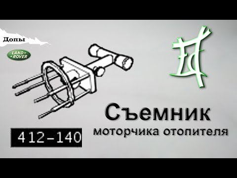 Съемник моторчика печки или спецключ 412-140