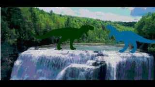 getlinkyoutube.com-Cretaceous Fight Arena: V-rex vs Red eye king