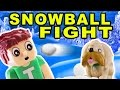 Tobuscus Adventures: SNOWBALL FIGHT! Stop Motion Animation